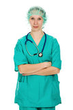 Confident female doctor with his arms crossed Stock Photos