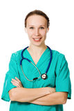 Confident female doctor with his arms crossed Stock Image