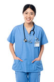 Confident female doctor in medical uniform Stock Photography