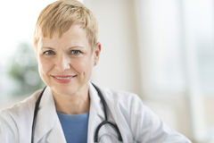 Confident Female Doctor Smiling Stock Image