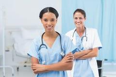 Confident female doctors Royalty Free Stock Photos