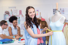Confident female fashion designer Stock Photo