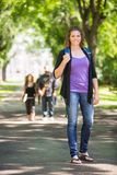 Confident Female Grad Student Outdoors Royalty Free Stock Photos
