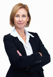 Confident female lawyer over white background Royalty Free Stock Image