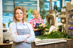 Confident Female Owner In Flower Shop Royalty Free Stock Photography