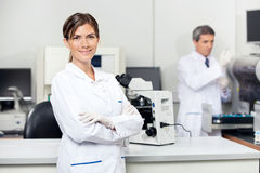 Confident Female Scientist In Laboratory royalty free stock photos