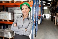 Confident Female Supervisor With Arms Crossed Royalty Free Stock Photo