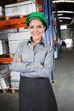 Confident female Supervisor At Warehouse Stock Photos