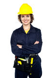 Confident female worker posing with arms crossed Stock Images