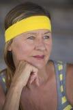 Confident fit active senior woman portrait Stock Photos