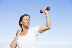 Confident fit healthy mature woman Royalty Free Stock Photos