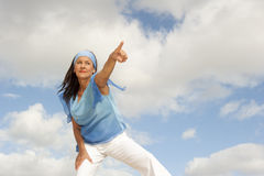 Confident, focused mature woman outdoor Stock Image