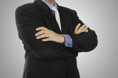 Confident Folding Hand Gesture Royalty Free Stock Photos