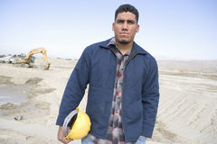 Confident Foreman At Construction Site Stock Images