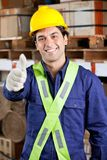 Confident Foreman Gesturing Thumbs Up Royalty Free Stock Photos