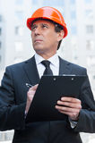 Confident foreman. Stock Photos