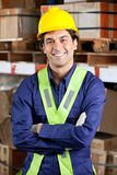 Confident Foreman At Warehouse Stock Photo