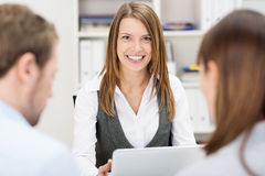 Confident friendly business adviser Stock Images