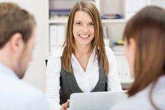 Confident friendly business adviser stock images