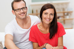 Confident friendly young couple Stock Images