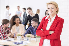 Confident and fulfilled middle-aged woman Stock Images