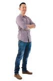 Confident full body Asian man Royalty Free Stock Photography