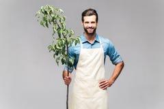 Confident gardener. stock photography