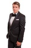 Confident gentleman in a photo studio royalty free stock photo