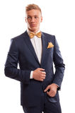 Confident gentleman wearing bow tie Royalty Free Stock Photography