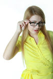 Confident girl in glasses Royalty Free Stock Photo