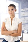Confident girl smiling Royalty Free Stock Image
