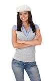 Confident girl standing arms crossed Royalty Free Stock Photos