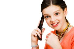 Free Confident Girl Talking On Mobile Stock Photo - 11159840