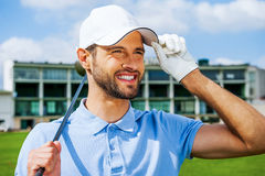 Confident golfer. Stock Images