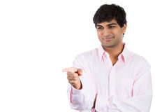 confident guy pointing at you and smirking Royalty Free Stock Photo
