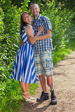 Confident handicapped man with his wife Stock Images