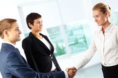 Confident handshake Royalty Free Stock Images