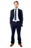Confident handsome business executive Royalty Free Stock Image