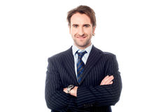 Confident handsome business executive Royalty Free Stock Photos