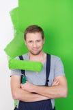 Confident handsome painter Stock Image