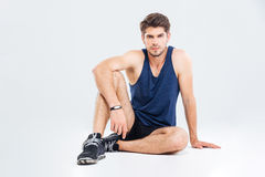 Confident handsome young fitness man Stock Images