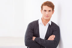 Confident and handsome. Royalty Free Stock Photography