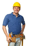 Confident handyman portrait Stock Photos