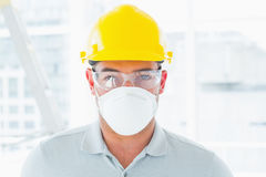 Confident handyman wearing protective workwear Royalty Free Stock Images