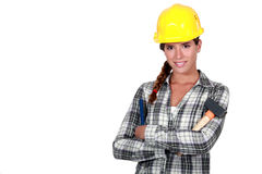 Confident handywoman Royalty Free Stock Images