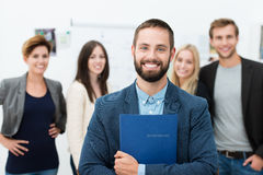 Confident happy businessman Stock Photo