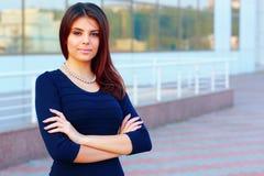 Confident happy businesswoman outdoors Stock Photos