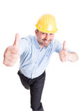 Confident and happy engineer showing thumbs up Stock Photography