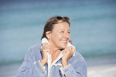 Confident happy mature woman outdoor Stock Images