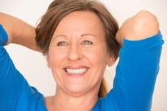 Confident happy mature woman portrait Royalty Free Stock Images